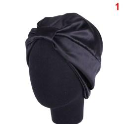 Silk Women Sleep Shower Cap Elastic Hair Care Bonnet Headwrap H