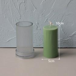 Strip Cylindrical Acrylic Candle Mold DIY Candle Mold Wedding 5x10cm