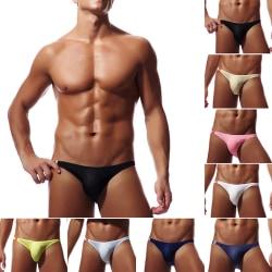 Snygga mäns sexiga underbyxor Bikini-underbyxor med låg midja Boxer Pou White M