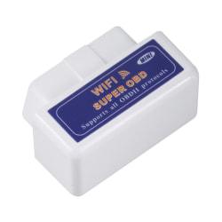 Super Wifi ELM327 ElM327 OBD2 II bildiagnostikverktyg OBD Scanne Black