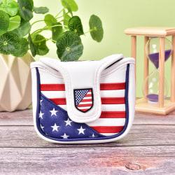 USA Mallet Putter Cover Golf Headcover för TaylorMade Spider till