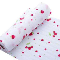 Vattentät halkfritt bordsunderlägg matta kökslåda matsal B White Strawberry 30*300cm