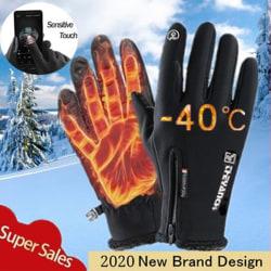 Vinterhandskar Vattentät termisk pekskärm Termisk vindtät Black M