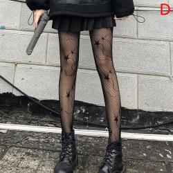 damkläder sexiga ihåliga svarta tights strumpor fisknät sto D