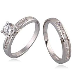 18K Guldfyllda Guld Filled gulddoublé Ring förlovningsring 17