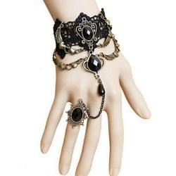 Gotisk smycken spets handleden längd armband