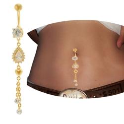 Guldpläterade Navelpiercing Piercing smycken