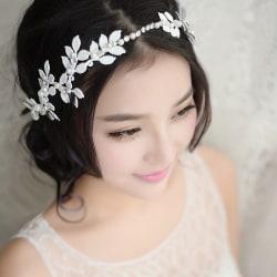 Kvinnor hårband  bröllop diadem vit