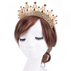 Lyx kristall bröllop hår krona tiara