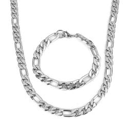 Rostfritt stål halsband + armband Set 9,3mm