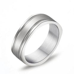 Rostfritt stål ring  6mm kvadrat 20