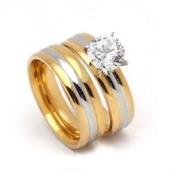 Rostfritt stål ring förlovning 19