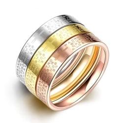 Rostfritt stål ring Förlovningring 3 st / set 17
