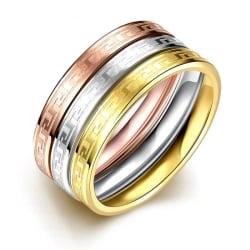 Rostfritt stål ring Förlovningring 3 st / set 16