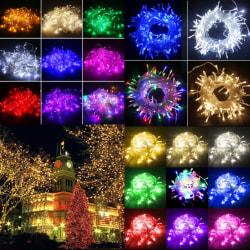 30M transparent tråd 220V ljussträng - dekoration för trädgårdsfest Blue 30M