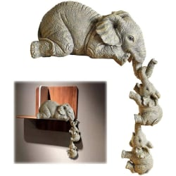 3ST Elefantstatyer / Maternal Love Elephant Decorations / 3