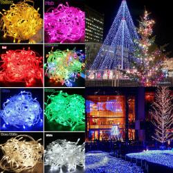 50M transparent tråd 220V ljussträng / vattentät nattlampa Multicolor 50M