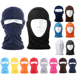 Baclava - skidmask - rånarluva - Huvud Hood- Cykel mask solskydd Black
