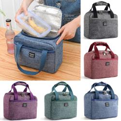 Bärbar väska Ice Pack Lunchbox Package Barn Vuxen Dark Green