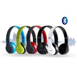Bluetooth-hörlurar 5.0 Trådlösa hörlurar hörlurar för spel Blue