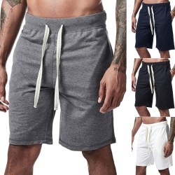 Casual Sports Pocket Drawstring Shorts - Matchbyxor - M White XL