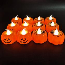 Klassisk pumpa liten LED-ljuslykta Halloween dekoration Pumpkin