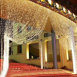 Curtain Light / Valentine's Day Dating Romantic Light / Par Blue 3.5M 96 lights