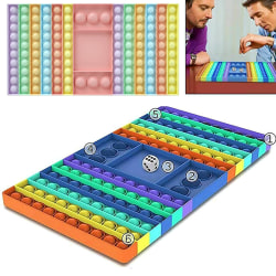 Gnagare Pioneer Pop it Rainbow Bubble Fidget Toys Checkerboard light multicolour