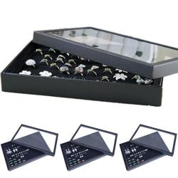 Öronproppar Ring Förvaringslåda Organizer Hållare Smycken Displayfodral