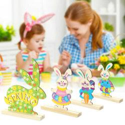 Träprydnader i påsk / dekor på bordsskivan / gåvor för barn # 3