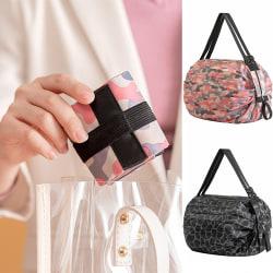 Eco Shopping Axelväska Tote Handväska Fällbar återanvändbar väska Pink camouflage