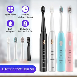 Elektrisk tandborste USB Recharge Whitening Polishing Tandborste Blue