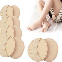 Femfotiga strumpor i framfoten / Massagefotkuddar / lindra smärta Black