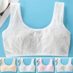 Flickastudent-behå tryckt bomullsträningssportunderkläder white L