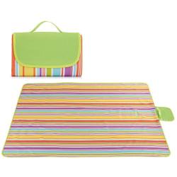 Vikbar sandbeständig picknick - vattentät filt - familjekamera Rainbow Bar