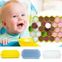 Honeycomb Silicone Ice Tray Mold - DIY Ice Cube Handgjuten mögel Green