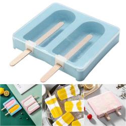 2 Popsicleformar / DIY DIY Craft / Glass Silikonform / 2 Po Blue