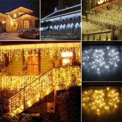 LED-ljusstråle - vattentät ljussträng - för trädgårdsdekoration Warm White