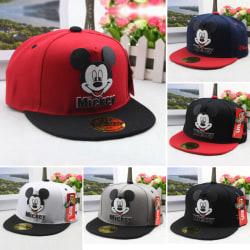 Mickey Print Cap / Outdoor Sports Baseball Cap / Justerbar Grey