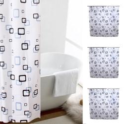 Modernt gittertryck vattentätt badrumshängande duschdraperi 180*200CM