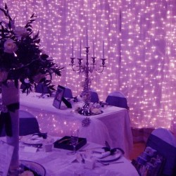 Polaris Gardinljus - Vattentät dekorativ ljussträng - Par Purple 3.5M 96 lights