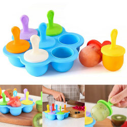 Popsicle Mold  -  Silicone Ice Cream Tray Stand  -  Home DIY Mol