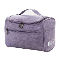 Resetoalettpåsar Makeup Organizer Kosmetisk väska för kvinnor Purple