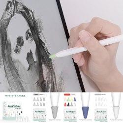 Skyddskåpa Stylus Pen Nib Cover Waterproof för Apple Pencil white