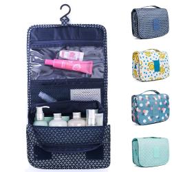 Förvaringsväska med krok Vattentät toalettpåse Dam kosmetisk väska Blue