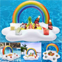 Summer Beach Party Rainbow Cloud Uppblåsbar Dryck Cup Holder