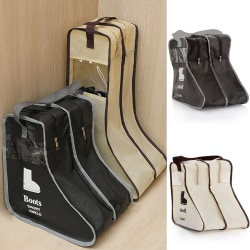 Reseskopåse Skopåse Förvaring Researrangörsväska för sko black L