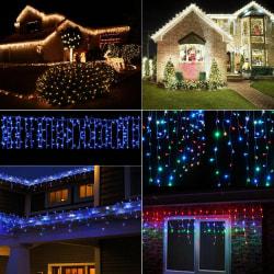 Vattentätt Wave Curtain Light - hög effektivitet - för hemmafester White 3.5M 96 lights