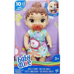 Baby Alive Baby Lil låter interaktiv brunhårig babydocka