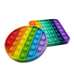 Pop it Fidget Sensory Leksak - Rund - Rainbow (1 Pack)